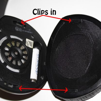 SENNHEISER AFTER MARKET REPLACEMENT EAR PAD BACK PLATES - Black FOR RS160-170-180-HDR160-HDR170